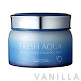 Tony Moly Fresh Aqua Water Massage Sleeping Pack