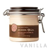 The Body Shop Spa Wisdom Africa Shea Butter & Sesame Oil Body Balm