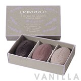 Durance 3 Organic Soaps in Palette with Organic Lavender Essential Oil