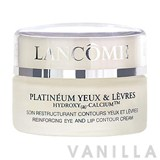 Lancome PLATINEUM YEUX & LEVRES HYDROZY (a) CALCIUM Reinforcing Eye and Lip Contour Cream