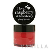 I Love... Raspberry & Blackberry Glossy Lip Balm