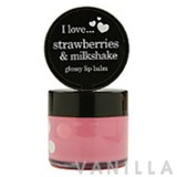 I Love... Strawberries & Milkshake Glossy Lip Balm