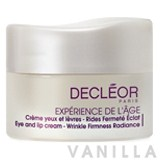 Decleor Eye And Lip Cream - Wrinkle Firmness Radiance