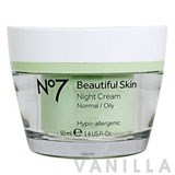 No7 Beautiful Skin Night Cream Normal/Oily