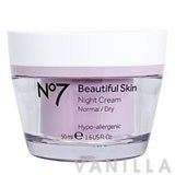 No7 Beautiful Skin Night Cream Normal/Dry