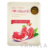 The Saem I Love Natural Pomegranate Mask Sheet
