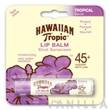 Hawaiian Tropic Lip Balm Stick Sunscreen SPF45+ Tropical