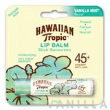 Hawaiian Tropic Lip Balm Stick Sunscreen SPF45+ Vanilla Mint