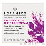 Boots Botanics Triple Age Renewal Day Cream SPF15
