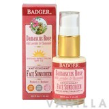 Badger Damascus Rose Antioxidant Face Sunscreen