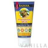 Badger Active Lavender Broad Spectrum SPF 30 Zinc Oxide Sunscreen Cream