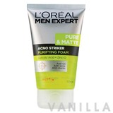 L'oreal Men Expert Pure & Matte Acno Striker Purifying Foam
