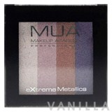 MUA Extreme Metallic Quad Eyeshadows Celebrity