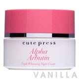 Cute Press  Alpha Arbutin Triple Whitening Night Cream