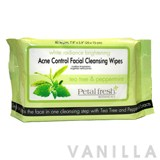 Petal Fresh White Radiance Brightening Tea Tree & Peppermint Acne-Control Facial Cleansing Wipes