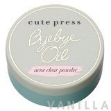 Cute Press Bye Bye Oil Acne Clear Powder