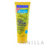 Freeman Toning Body Lotion White Grape