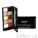 NYX The Runway Collection - 10 Color Palette