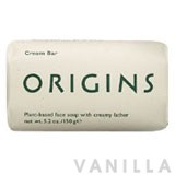 Origins Cream Bar Plant-Based Face Soap with Creamy Lather