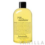 Philosophy You Are My Sunshine Lemonade Scented, High Foaming, Shower And Bath Gelee