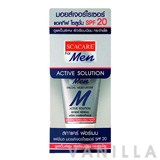 Scacare For Men Facial Moisturizer Active Solution SPF20