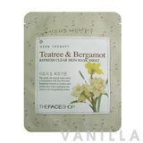 The Face Shop Herbal Therapy - Teatree & Bergamot Refresh Clear Skin Mask Sheet