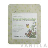 The Face Shop Herbal Therapy - Geranium & Everlasting Healthy Skin & Life Mask Sheet