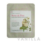 The Face Shop Herbal Therapy - Rose & Pine Rose Moisturizing Mask Sheet