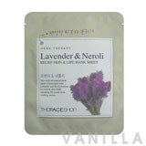 The Face Shop Herbal Therapy - Lavender & Neroli Relief Skin & Life Mask Sheet