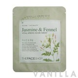 The Face Shop Herbal Therapy - Jasmine & Fennel Vital Spring Mask Sheet